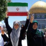 اهتزاز پرچم مقدس ایران در قدس شریف